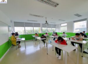Cải tạo trường học - Thi công trần chìm thạch cao