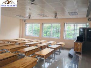 Cải tạo trường học Chu Văn An - làm trần thả thạch cao
